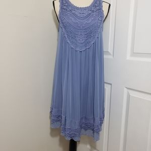 Altar'd State blue lace sleeveless dress